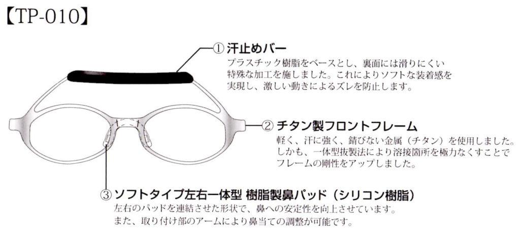スポーツメガネ天武tp010